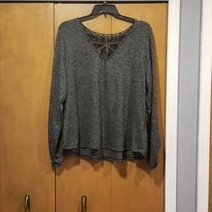 Nwt black strappy lace blouse